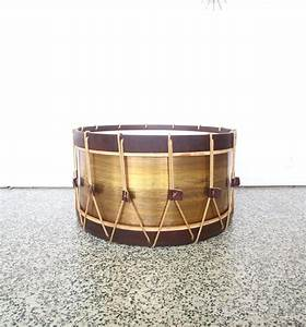 vintage large drum coffee table for sale at 1stdibs With large drum coffee table