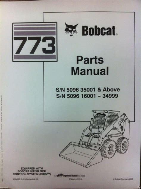 bobcat  parts manual book skid steer loader