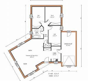 architectures plans de maisons plain pied plan de la With plan maison 6 chambres