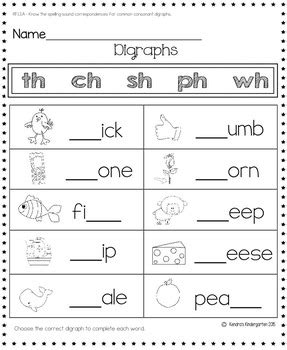 Reading Foundational Skills Worksheetsactivities  First Grade Common Core