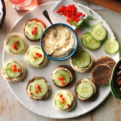 canapes recipes cucumber canapes recipe taste of home