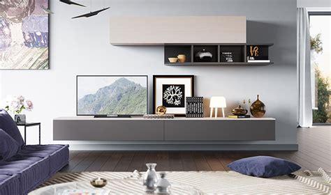 plateau de bureau bois meubles muraux pour salon tv design laqu gris et bois clair