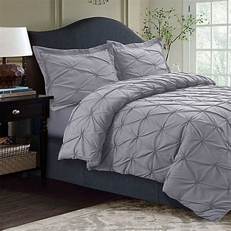 bed bath and beyond duvet tribeca living sydney pintuck duvet cover set bed bath