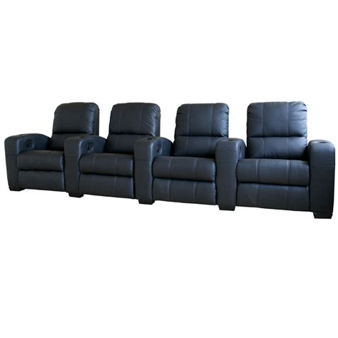 wholesale interiors set of four leather home theater seats