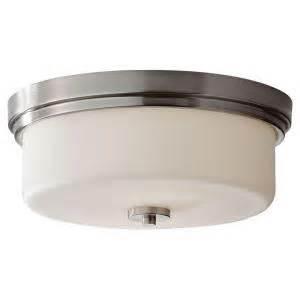 pictures of kitchen light fixtures feiss 2 light brushed steel indoor flushmount 7466