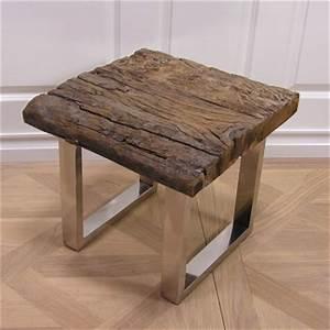 Couchtisch Holz Antik : figurenhalle deko beistelltisch aus holz und stahl ~ Frokenaadalensverden.com Haus und Dekorationen