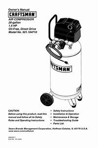 Sears Air Compressor 921 16471 User Guide