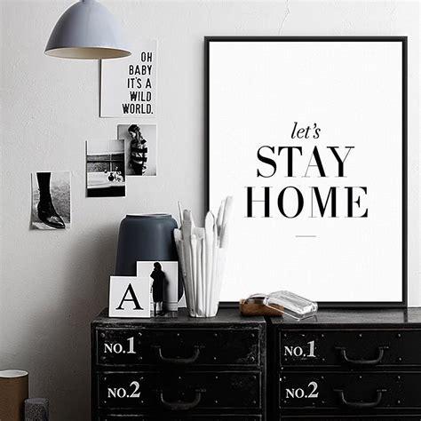azqsd art print poster minimalist black white quotes wall