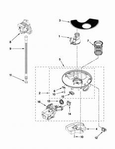 pump and motor parts diagram parts list for model With 3367443 pump and motor diagram and parts list for whirlpool dishwasher
