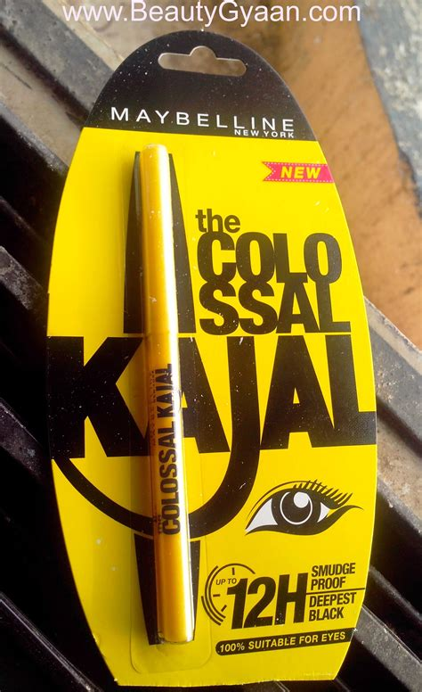 Maybelline Colossal Kajal Review 12 Hour Formula Swatches