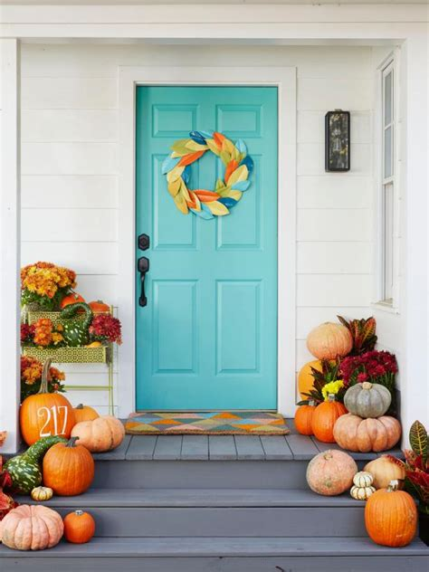 Decorating Ideas For Fall Outside by Fall Decorating Ideas For Around The House Hgtv