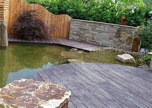 Steinmauer Mit Wasserfall : gartenteich mit bachlauf modern gartengestaltung ideen modern gartenbepflanzung ideen ~ Sanjose-hotels-ca.com Haus und Dekorationen