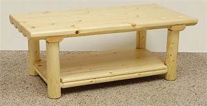 introduce a country style with a log coffee table coffee With log cabin coffee table