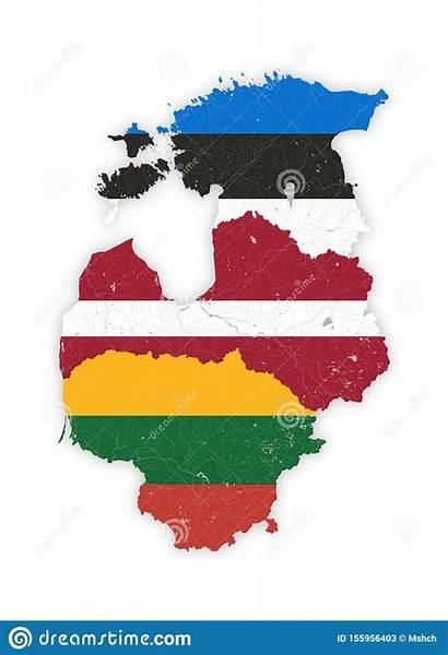 Meren Nationale Vlaggen Rivieren Baltische Kleuren Staten