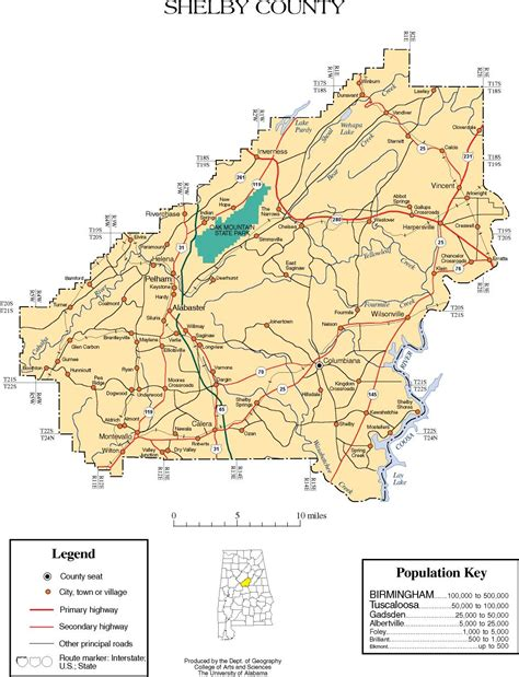 maps  shelby county