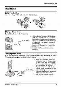 Installation  Battery Installation  Charger Connection