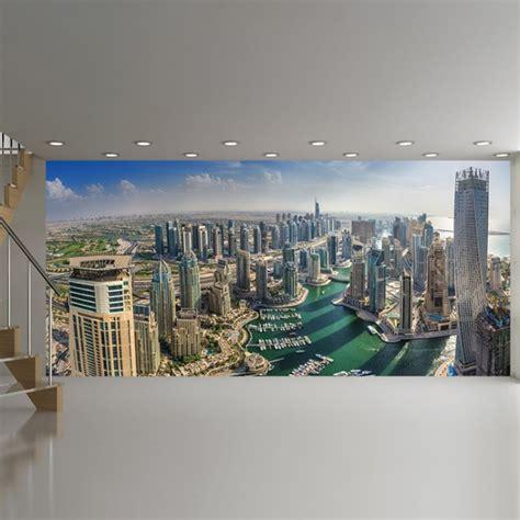 dubai cityscape wall mural city skyline wallpaper office