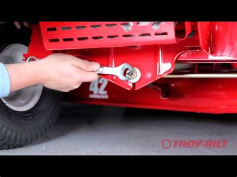 murray mower deck leveling how to adjust and level the deck height of a