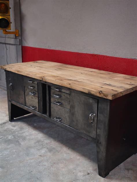 etabli cuisine grand etabli bureau console industriel biguet atelier renault