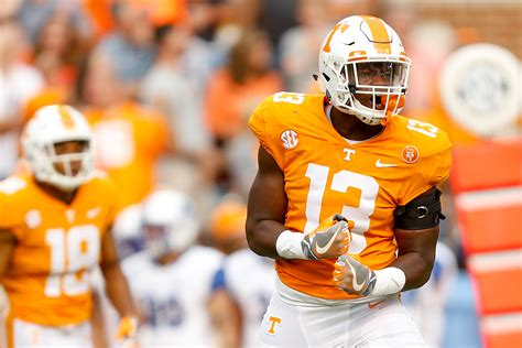 tennessee football smokey points top  vols  indiana st