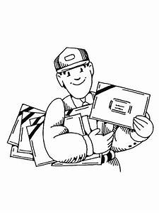 mail carrier coloring pages