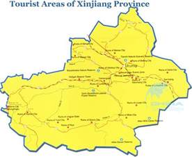Xinjiang Province China Map