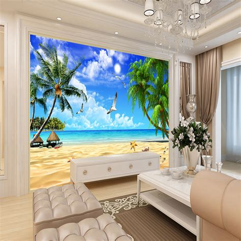 buy  wallpaper beach landscape mural