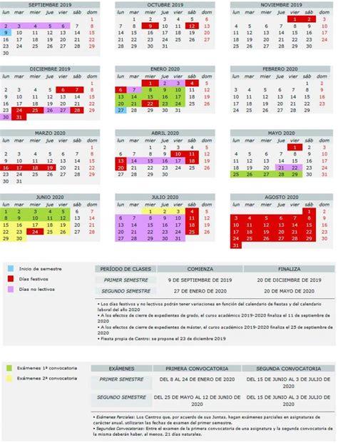 calendario academico de la universidad de valencia