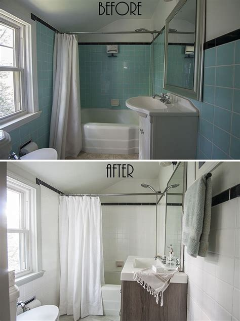 painted bathroom wall tile small bathroom