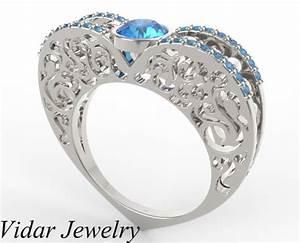 fancy blue diamond engagement ring vidar jewelry With fancy wedding ring