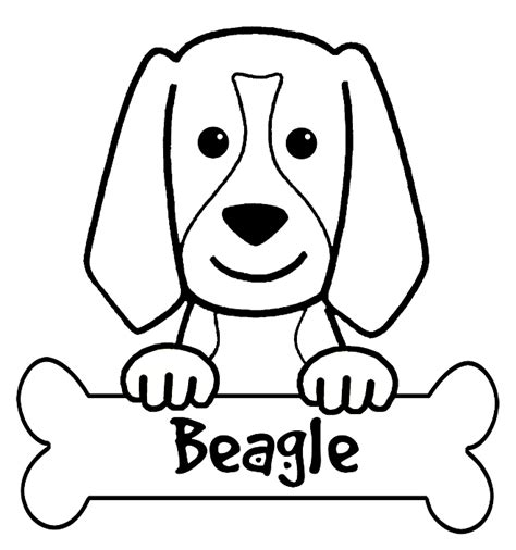 Beagle Kleurplaat by Beagle Colouring Pages