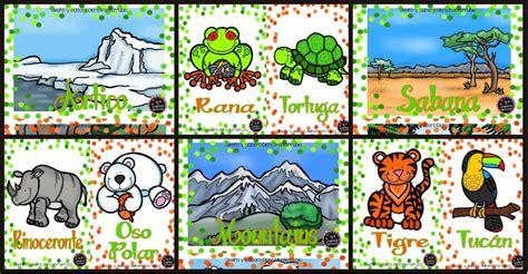 Tarjetas de animales de zoológico Y hábitats – Imagenes ...