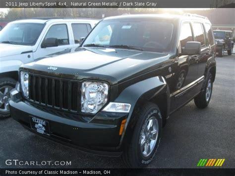 dark green jeep liberty natural green metallic 2011 jeep liberty sport 4x4