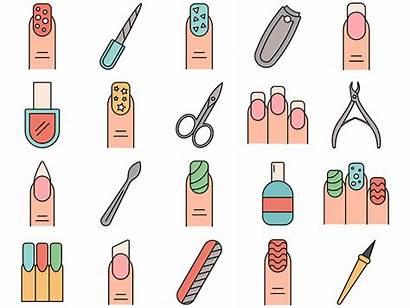 Manicure Icon Freebie Dribbble Nail