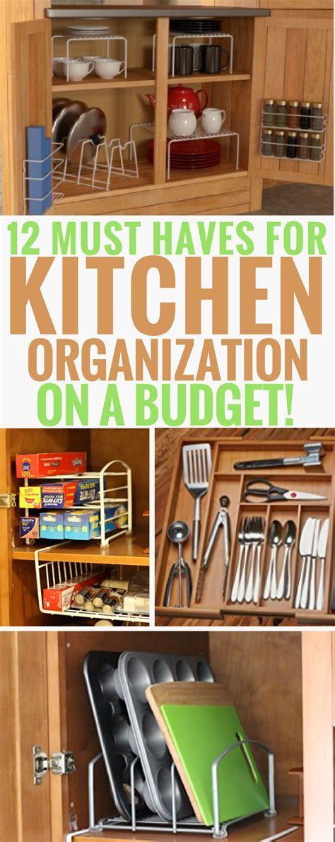 12 Must Have Products for Kitchen Organization On A Budget