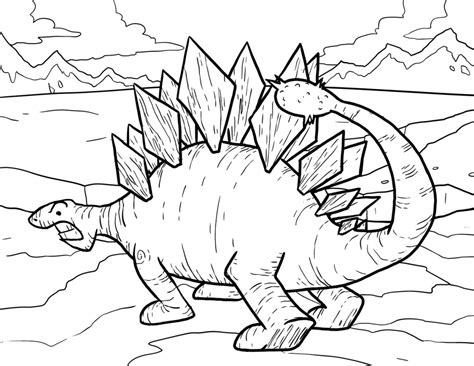 stegosaurus coloring page stegosaurus coloring pages for dinosaurs