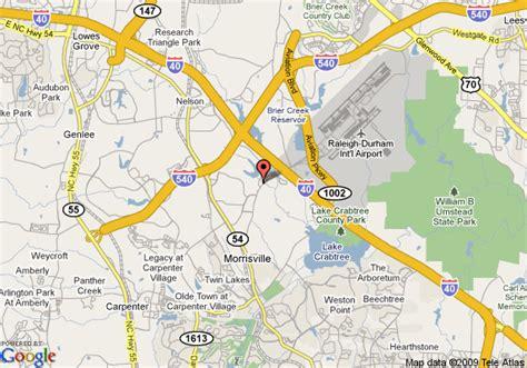 map  holiday inn raleigh durham airport morrisville