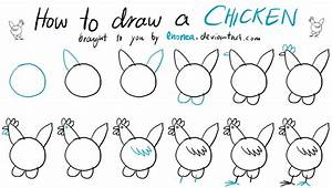 How To Draw A Chicken Tutorial By Enonea On Deviantart