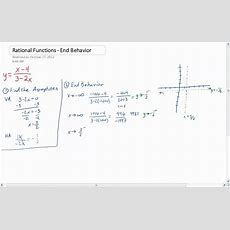 Graphing Rational Functions  End Behavior Youtube