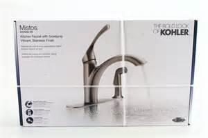 new kohler r72508 vs mistos single handle sprayer kitchen faucet stainless ebay
