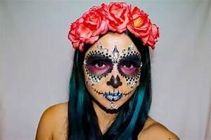 Tete De Mort Mexicaine Femme : maquillage tete de mort mexicaine rouge et noir ~ Melissatoandfro.com Idées de Décoration