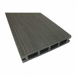 planche en composite pour terrasse 12 pi gris rona With planche de terrasse composite