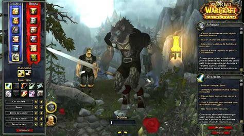 gameplay raca worgen world  warcraft em portugues br youtube