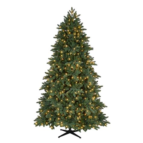 fake tree with lights home accents holiday 7 5 ft pre lit led bristol spruce