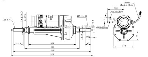 Ga Scooter Diagram by Model Hq 005 600w Transaxle Electric Motor Transaxle View