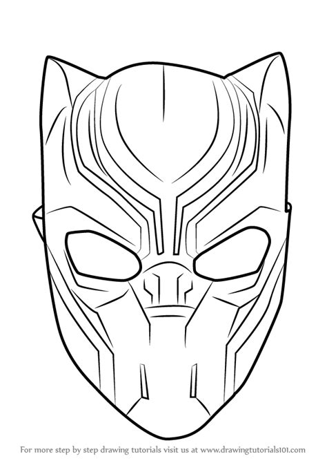 black panther mask template learn how to draw black panther mask captain america civil war step by step drawing tutorials