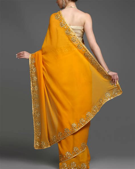 And Gold Sari saffron and gold sari by kyra by and deepika the