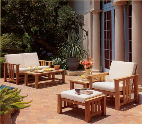 brownjordan mission teak deep seating furniture