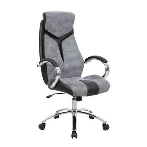 lyra fabric manager s chair grey black staples 174
