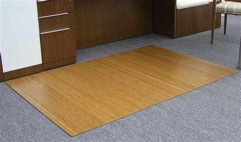 Bamboo Chair Mat For Thick Carpet by 5mm Thick Roll Up Bamboo Chair Mats